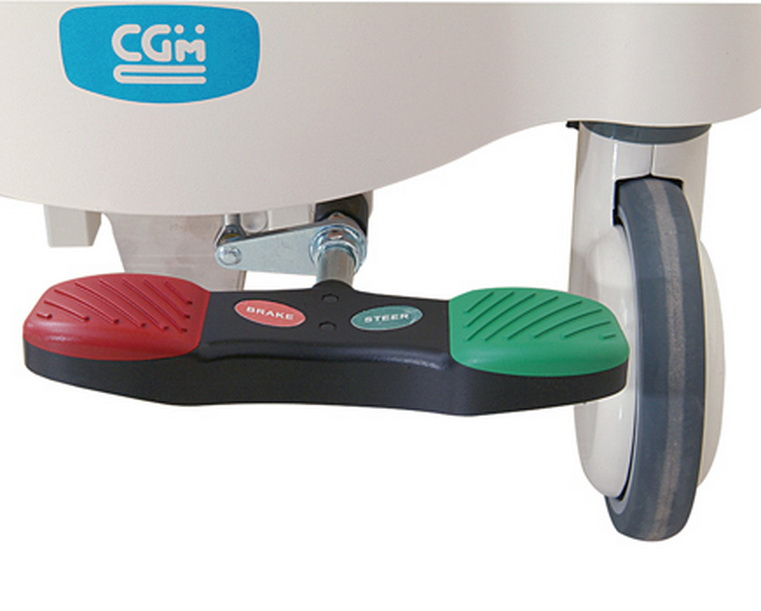 <h1>Central Braking and Steering Pedal</h1><p>Enable stretcher to move, brake, and steer.</p>