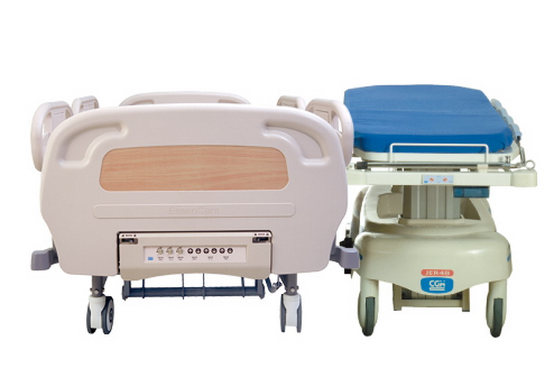 <h1>Zero Transfer Gap</h1><p>4-section tuck-away siderail allows the siderail to be stored completely under the bed frame for easily patient transferring from bed to bed.</p>